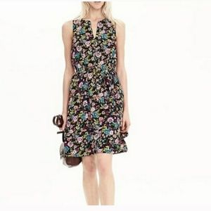 Banana Republic Tiered Floral Dress, Tie Waist